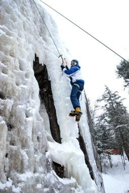 CLIMBING UP THE ICE