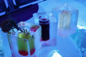 DRINKS FROM ICE GLASSES