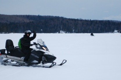 Skidoo on the lake.