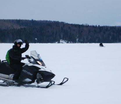 Skidoo on the lake.