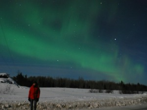 A really special moment: View northern lights for the first time.